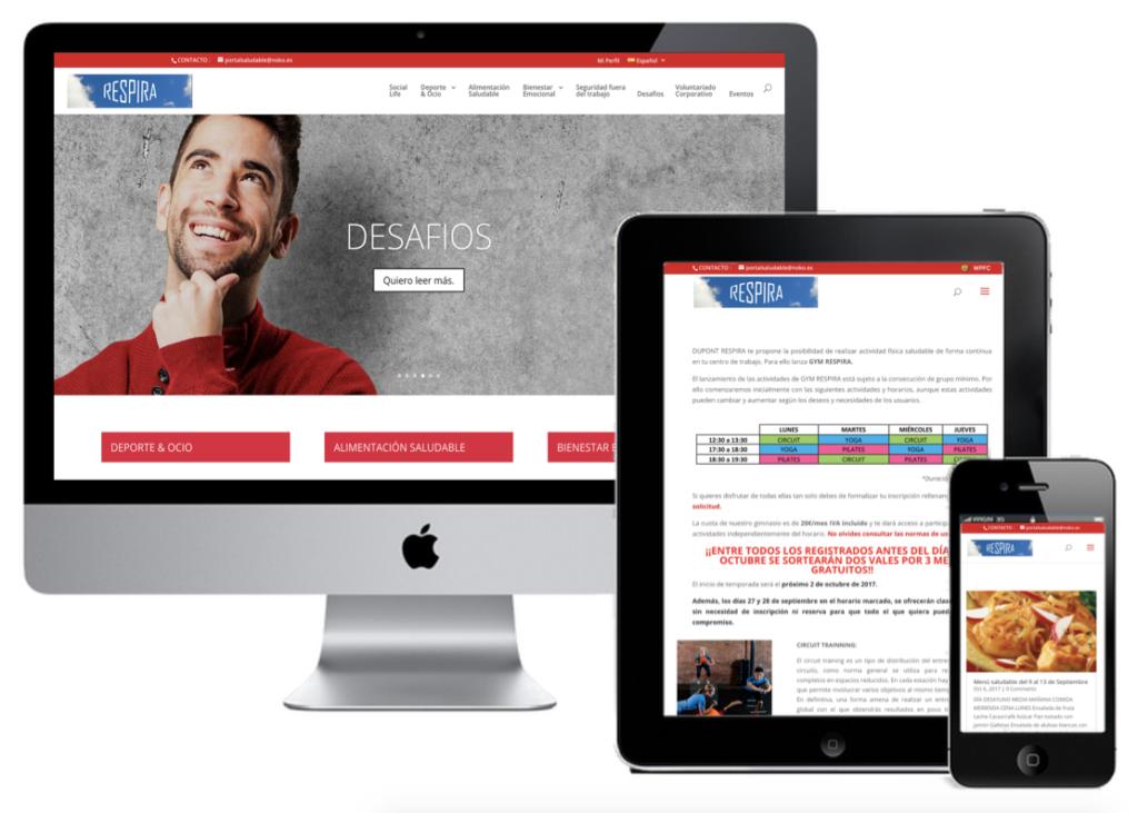 Web y aplicación saludable